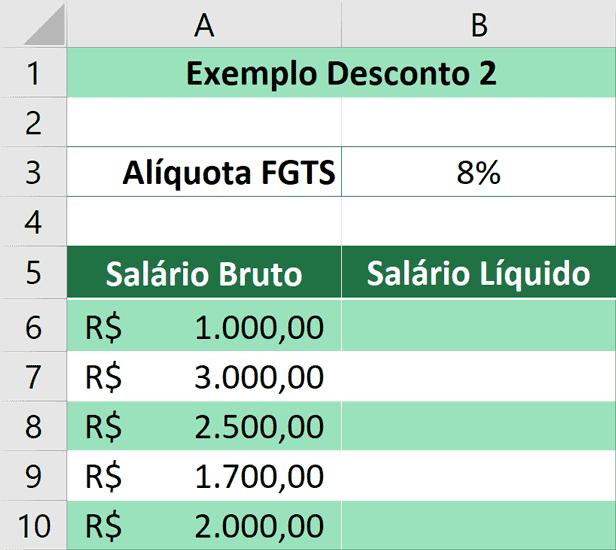Porcentagem no Excel - Aplicando Desconto 2