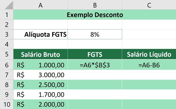 Porcentagem no Excel - Aplicando Desconto - Calculado