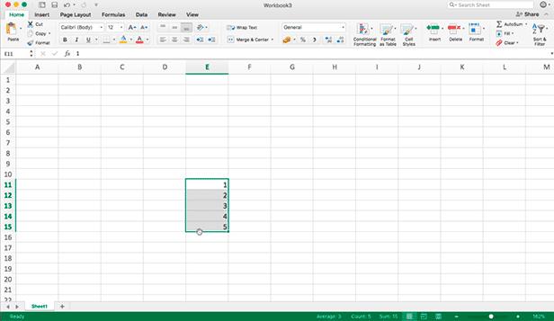 Movendo/Preenchendo células no Excel