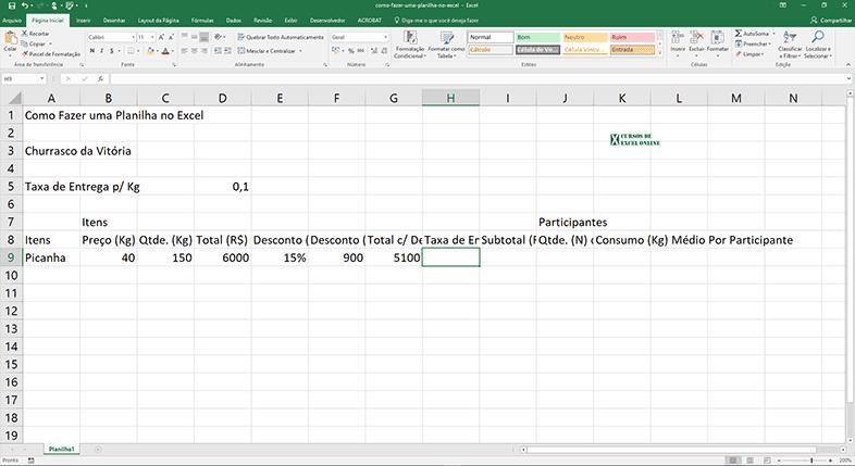 Visualizando o resultado do Total c/ Desconto