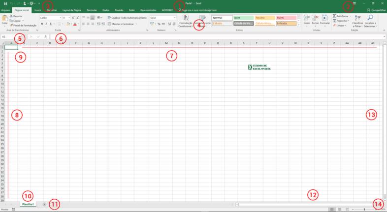 Como fazer uma planilha no Excel | Conhecendo a área de trabalho
